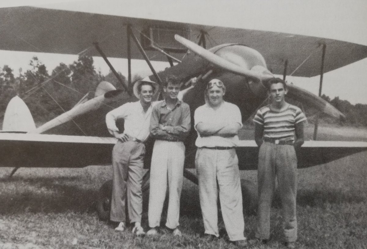 George's red & white Waco 10 in which he performed aerobatcs with Bill Teague